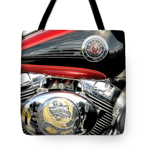 Tote Bag featuring the photograph Live To Ride  Ride To Live By David Lawrence by David Perry Lawrence