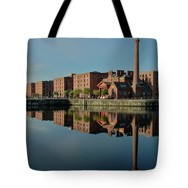 Liverpool Canning Docks Tote Bag by Jonah  Anderson