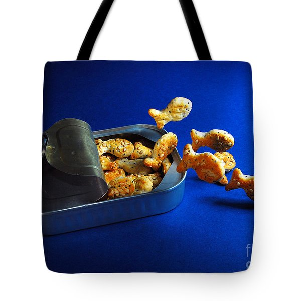 Living In A Can Tote Bag by Hannes Cmarits