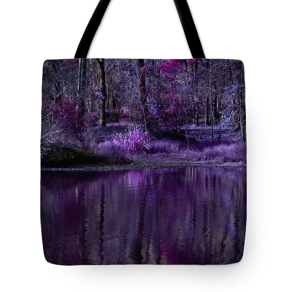 Living In A Purple Dream Tote Bag by Linda Unger