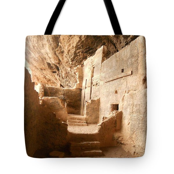 Tote Bag featuring the photograph Living In The Rocks by Kerri Mortenson