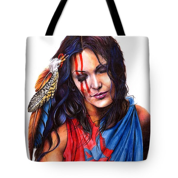 Living In Two Worlds Tote Bag