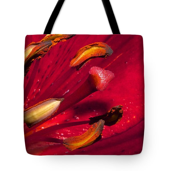 Living Inside A Lily Tote Bag by Phyllis Denton
