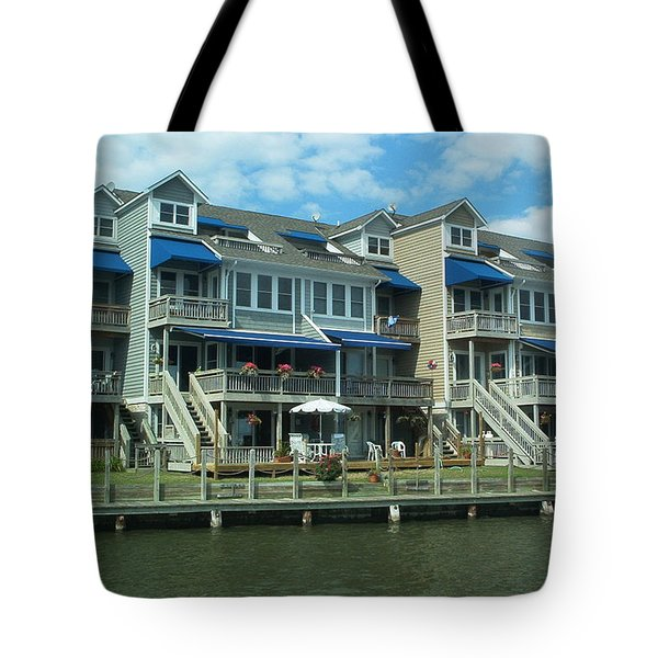 Tote Bag featuring the photograph Living On The Dock Of The Bay by Emmy Marie Vickers