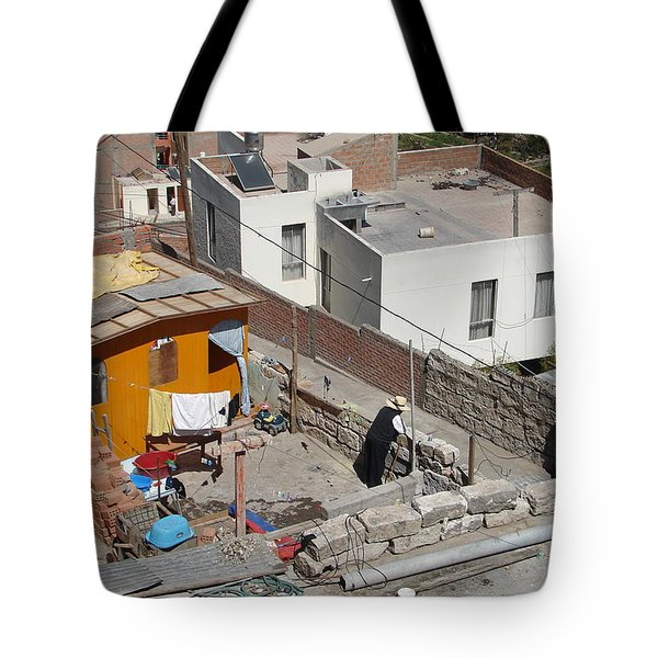 Tote Bag featuring the photograph Living On Top by Lew Davis