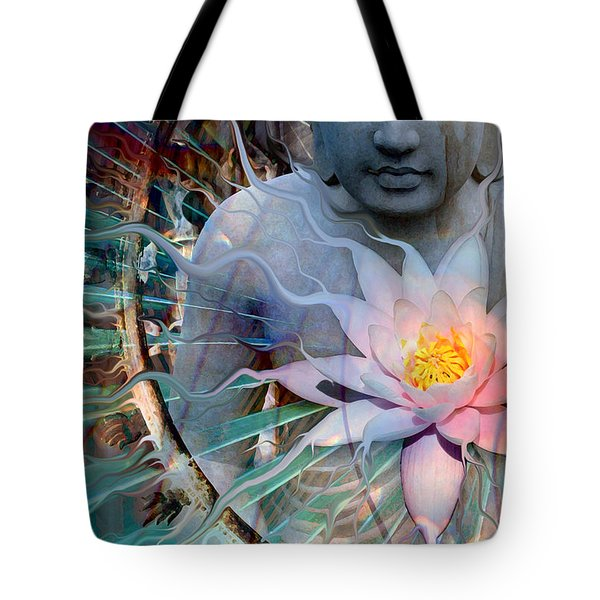Tote Bag featuring the painting Living Radiance by Christopher Beikmann