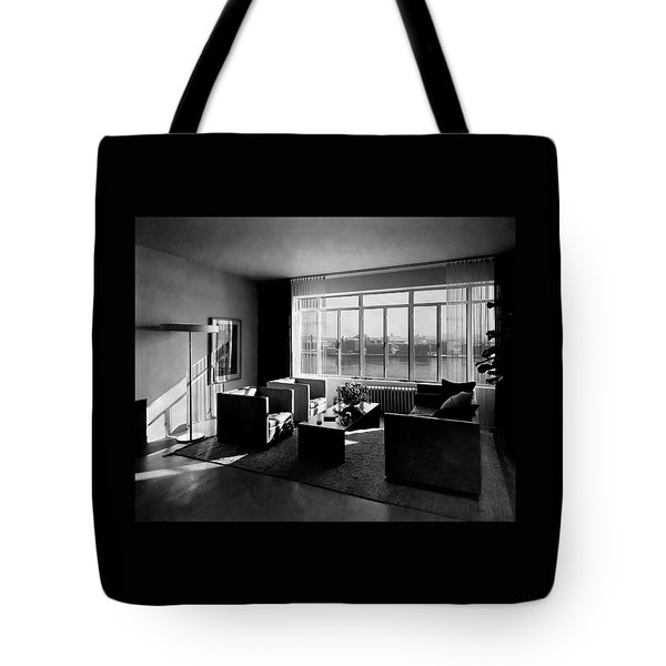 Living Room In The Ny Home Of Edward M. M Tote Bag