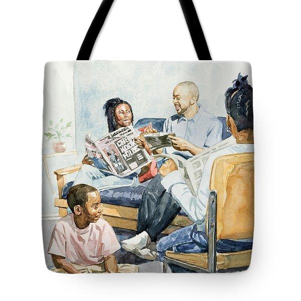 Living Room Serenades Tote Bag