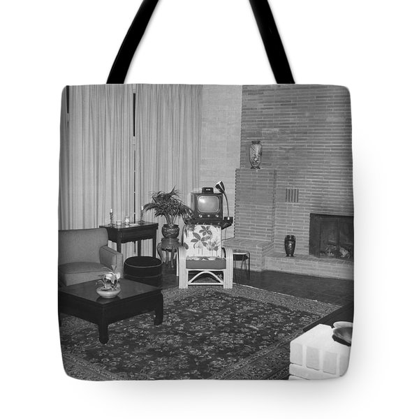 Living Room With A Tv Tote Bag