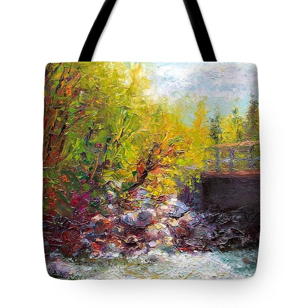 Living Water - Bridge Over Little Su River Tote Bag