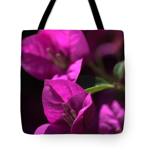 Living With Bougainvillea Tote Bag by Joy Watson