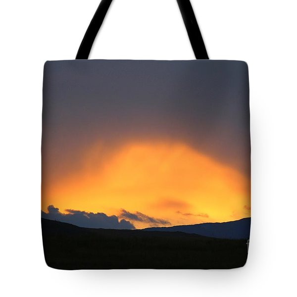 Livingstone Range Sunset Tote Bag