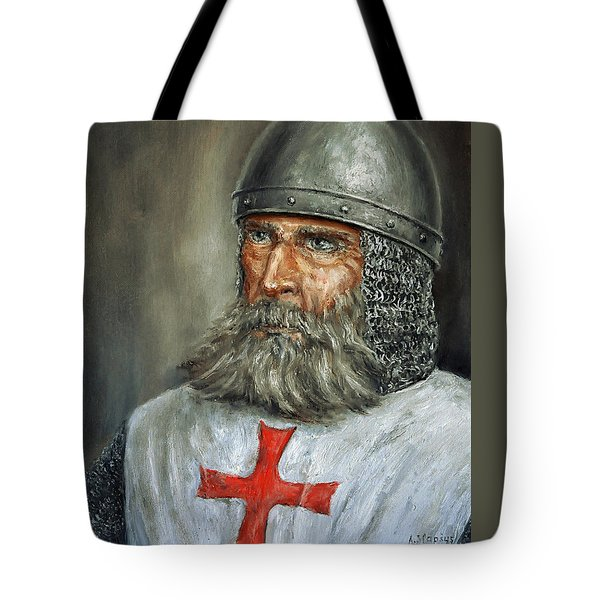 Knight Templar Tote Bag by Arturas Slapsys