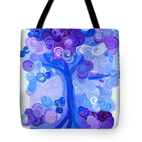 Liz Dixon's Tree Blue Tote Bag by First Star Art