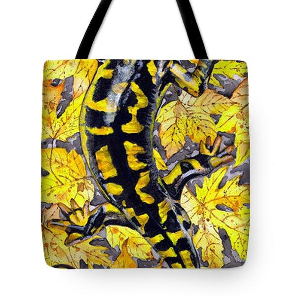 Lizard In Yellow Nature - Elena Yakubovich Tote Bag by Elena Yakubovich