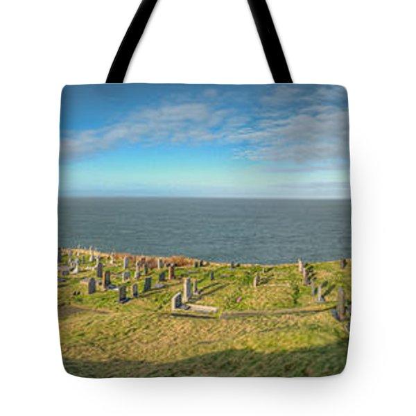 Llanbadrig Church Panorama Tote Bag by Adrian Evans