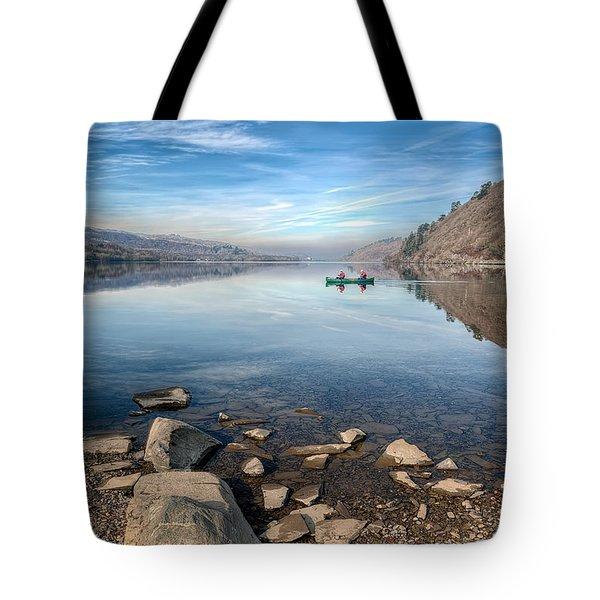 Llanberis Lake Tote Bag by Adrian Evans