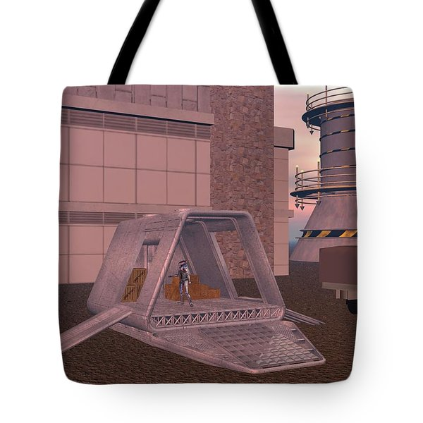 Loading A Cargo Pod Tote Bag