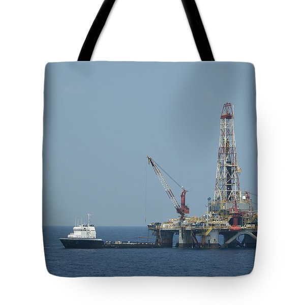 Loading On Drill Pipe Tote Bag