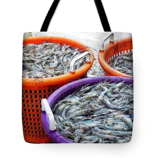 Loaves And Fishes Tote Bag by Patricia Greer