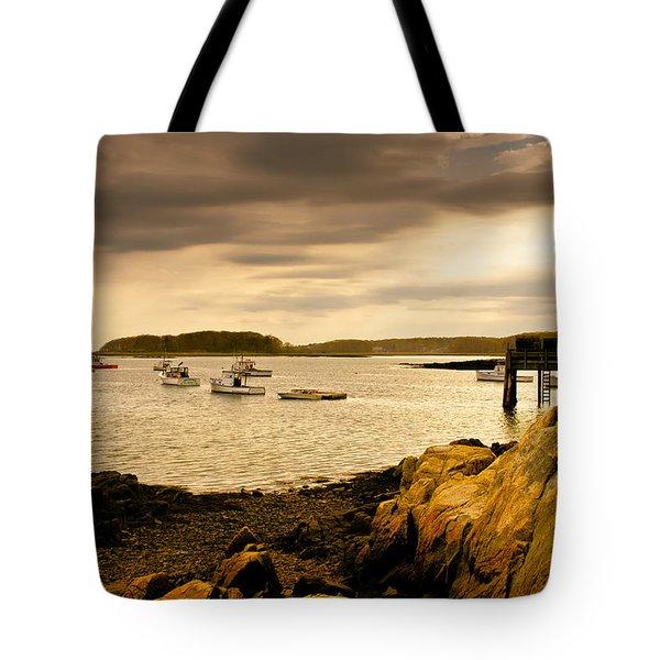 Lobster Boats Cape Porpoise Maine Tote Bag by Bob Orsillo