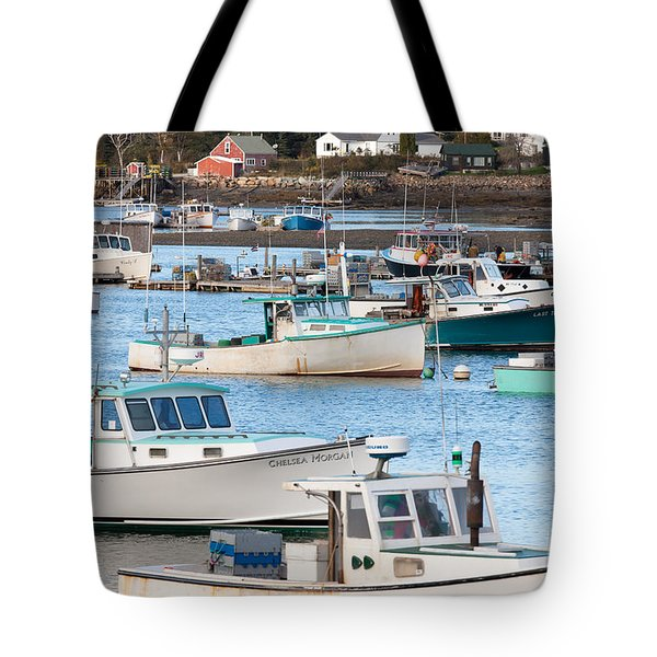 Lobster Boats In Bass Harbor I Tote Bag