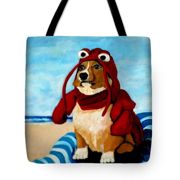 Lobster Corgi On The Beach Tote Bag