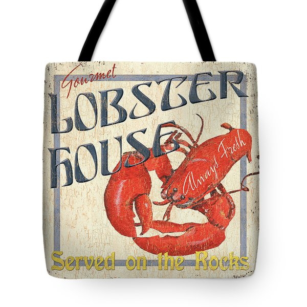 Lobster House Tote Bag by Debbie DeWitt