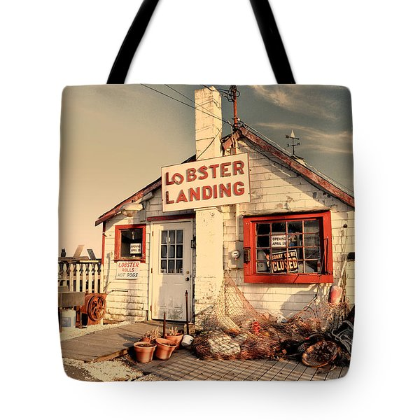 Lobster Landing Clinton Connecticut Tote Bag