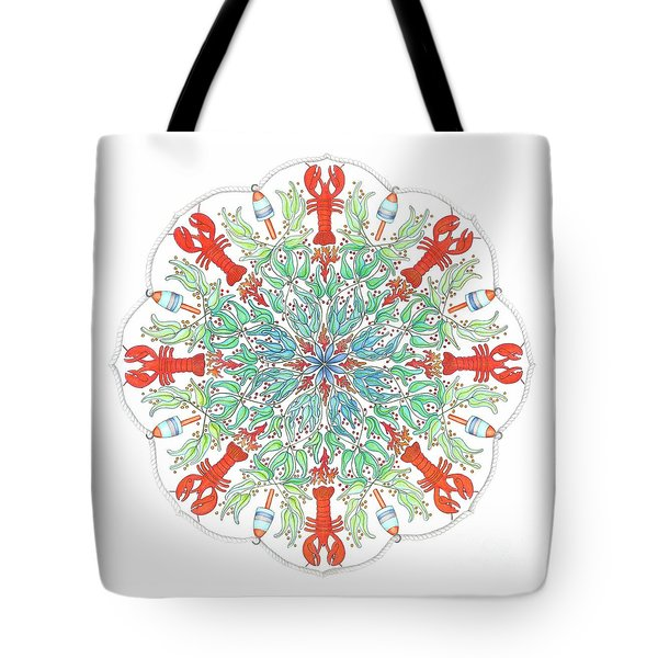 Lobster Mandala Tote Bag