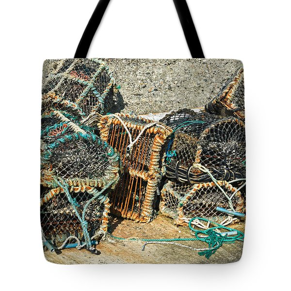 Lobster Pots Tote Bag by Jane McIlroy