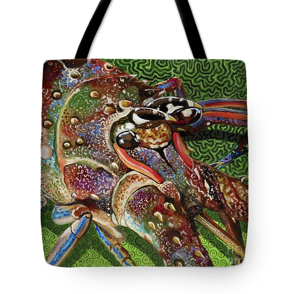 lobster season Re0027 Tote Bag by Carey Chen