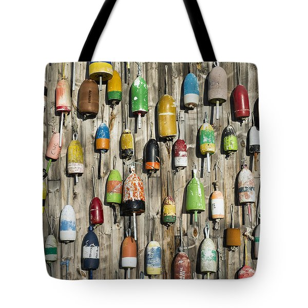 Lobster Shack Buoys Tote Bag by John Greim
