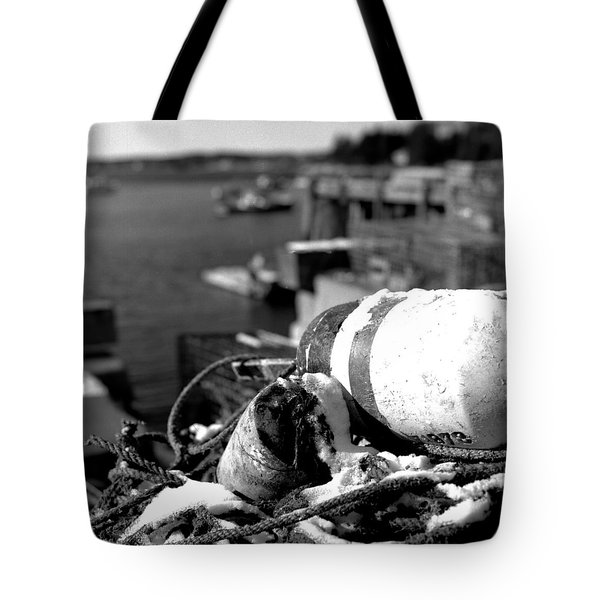 Lobster Traps 07 Tote Bag by Timothy Bischoff