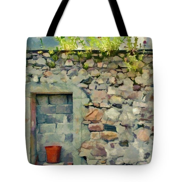 Tote Bag featuring the painting Location With A View by Jeff Kolker
