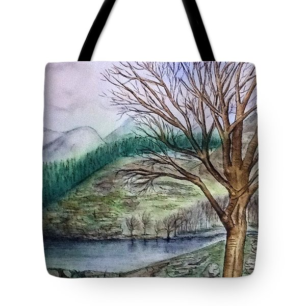 Loch Ard Stirling Overlooking Loch A'ghleannain Tote Bag