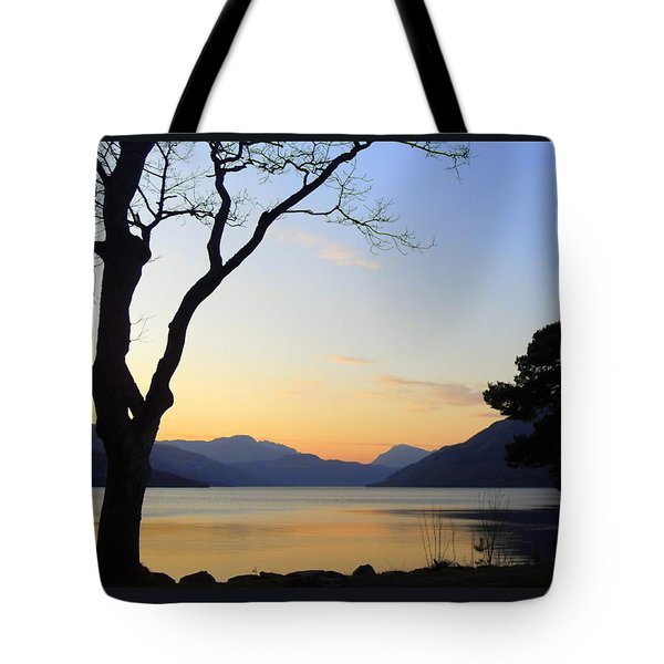 Loch Lomond Sunset Tote Bag by The Creative Minds Art and Photography