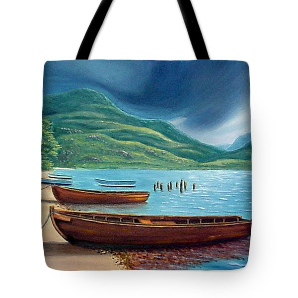 Loch Maree Scotland Tote Bag