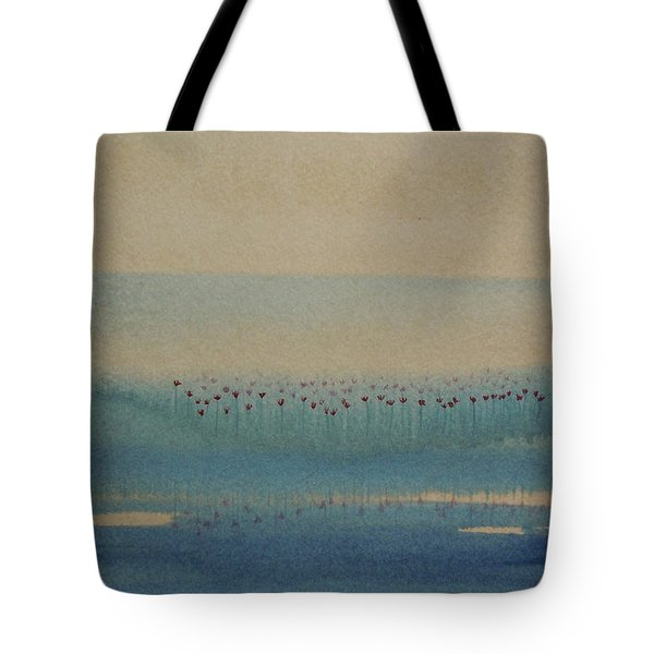Tote Bag featuring the painting Loch Of My Heart by Mini Arora
