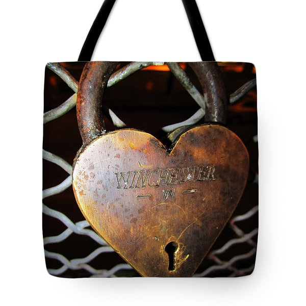 Lock Of Love Tote Bag by Kym Backland