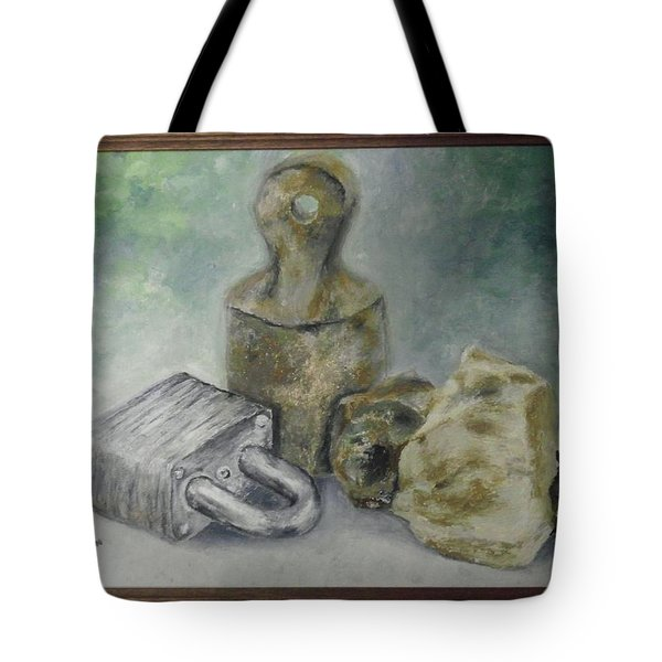 Locked And Anchored Tote Bag
