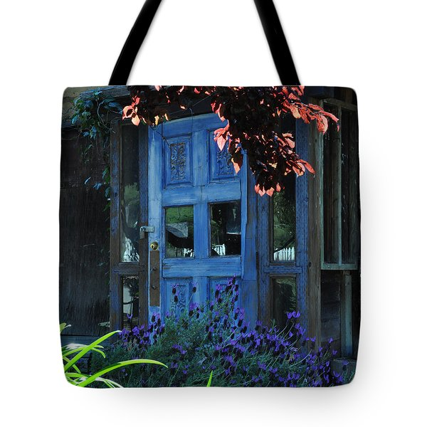 Locked Blue Door  Tote Bag
