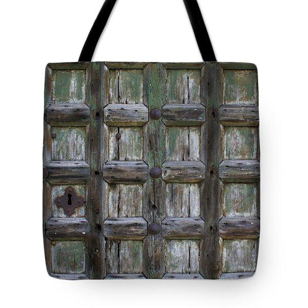 Locked Door Tote Bag by Ron Harpham
