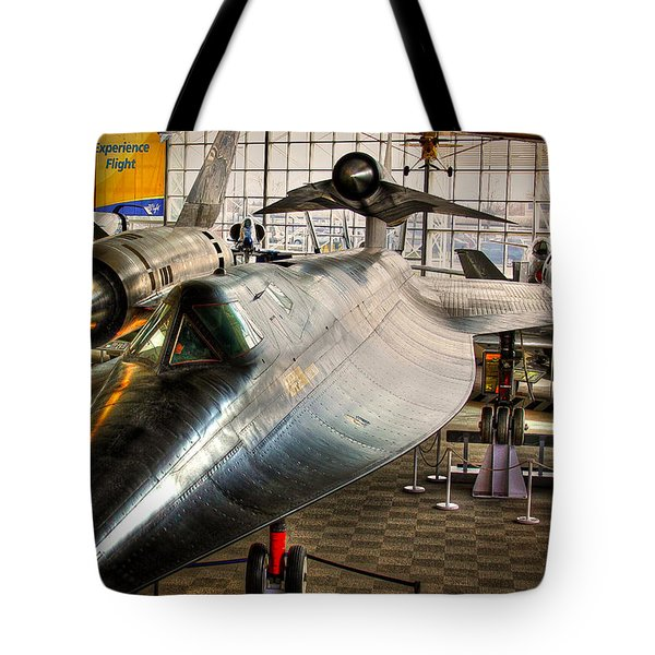 Lockheed M-21 Blackbird Tote Bag by David Patterson
