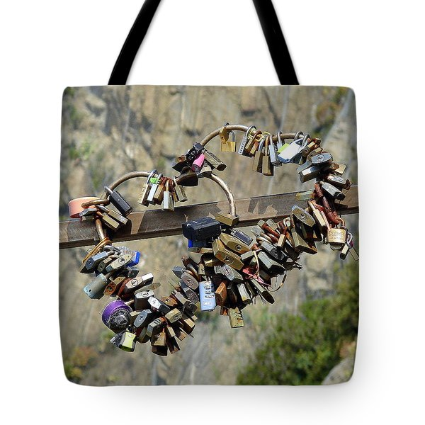 Tote Bag featuring the photograph Locks Of Love by Ramona Johnston