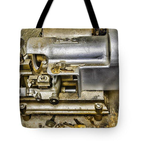 Locksmith - The Key Maker Tote Bag by Paul Ward