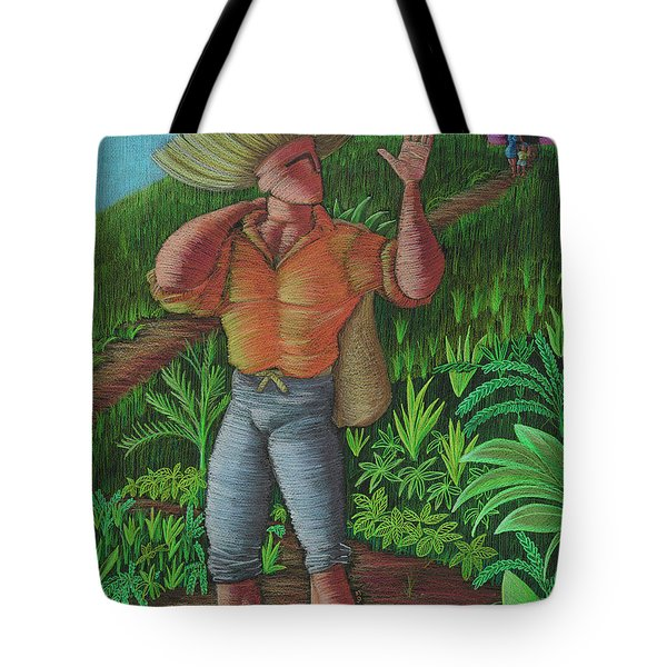 Tote Bag featuring the painting Loco De Contento by Oscar Ortiz
