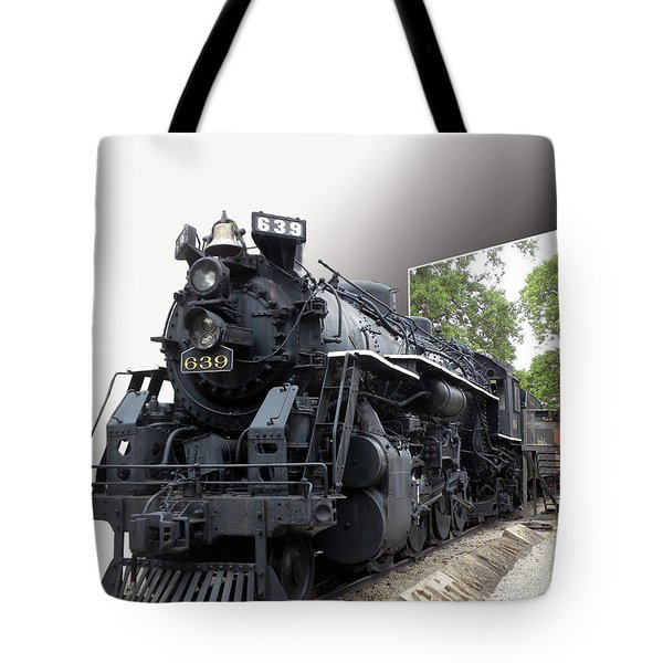 Locomotive 639 Type 2 8 2 Out Of Bounds Tote Bag by Thomas Woolworth
