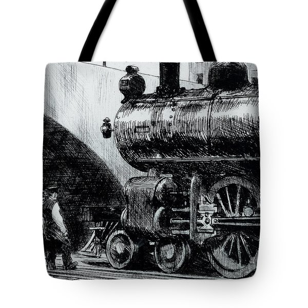 Locomotive Tote Bag by Edward Hopper