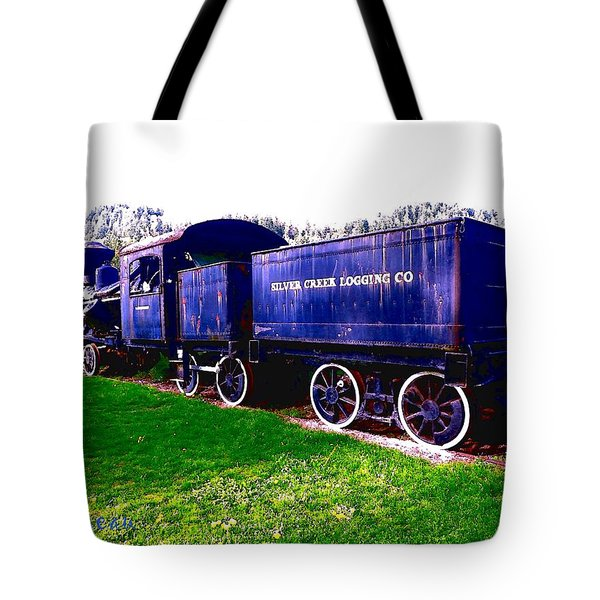 Tote Bag featuring the photograph Locomotive Steam Engine by Sadie Reneau